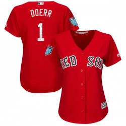 Boston Red Sox Bobby Doerr Official Red Replica Women's Majestic Cool Base 2018 Spring Training Player MLB Jersey