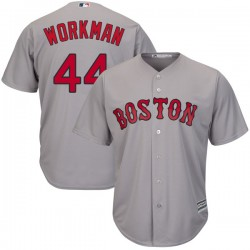 Boston Red Sox Brandon Workman Official Gray Authentic Men's Majestic Cool Base Road Player MLB Jersey