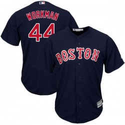 Boston Red Sox Brandon Workman Official Navy Replica Youth Majestic Cool Base Alternate Collection Player MLB Jersey
