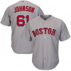 Boston Red Sox Brian Johnson Official Gray Replica Men's Majestic Cool Base Road Player MLB Jersey