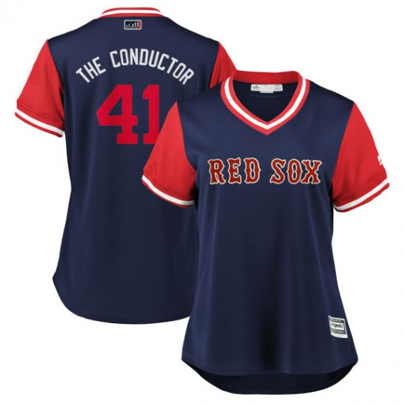 the best attitude 630ba 43d61 Boston Red Sox Chris Sale Official Navy/Red Replica Women's Majestic