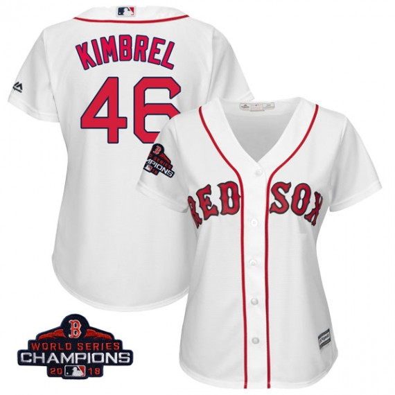 f1d52c89e Boston Red Sox Craig Kimbrel Official White Authentic Women s Majestic Cool  Base Home 2018 World Series