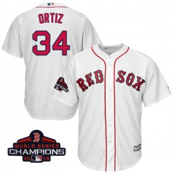 2aedce45bec Boston Red Sox David Ortiz Official White Authentic Men s Majestic Cool Base  Home 2018 World Series