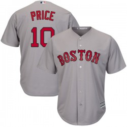 Boston Red Sox David Price Official Gray Authentic Men's Majestic Cool Base Road Player MLB Jersey