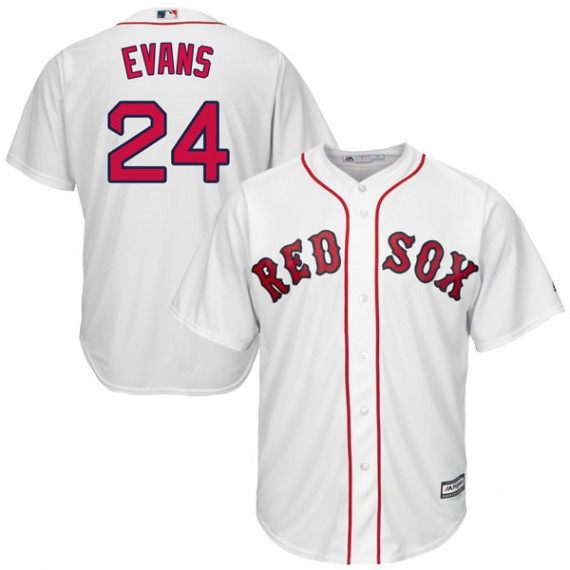 low priced c9452 9fdb7 Boston Red Sox Dwight Evans Official White Authentic Men's Majestic Cool  Base Home Player MLB Jersey S,M,L,XL,XXL,XXXL,XXXXL