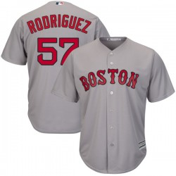 Boston Red Sox Eduardo Rodriguez Official Gray Authentic Men's Majestic Cool Base Road Player MLB Jersey