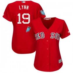 Boston Red Sox Fred Lynn Official Red Authentic Women's Majestic Cool Base 2018 Spring Training Player MLB Jersey