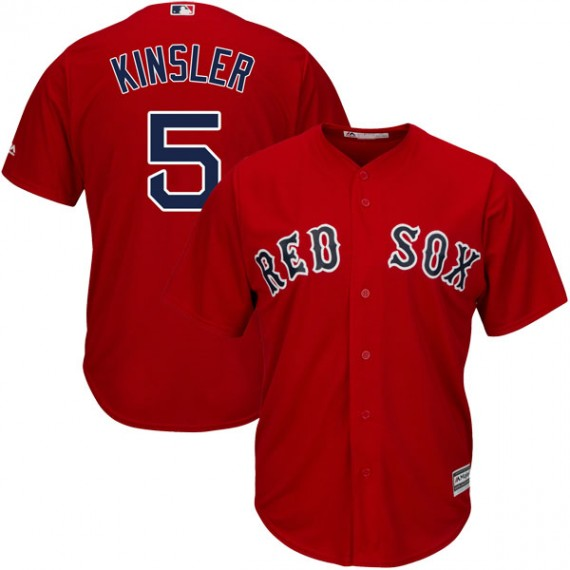 Boston Red Sox Ian Kinsler Official Red Authentic Men s Majestic Cool Base  Alternate Player MLB Jersey 46094eec076