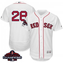 Boston Red Sox J.D. Martinez Official White Authentic Youth Majestic Flex  Base Home Collection 2018 World 3aa8cdeb2d4