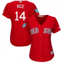 Boston Red Sox Jim Rice Official Red Replica Women's Majestic Cool Base 2018 Spring Training Player MLB Jersey