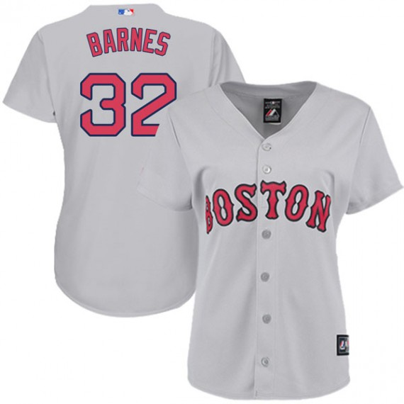 Boston Red Sox Matt Barnes Official Gray Authentic Women s Majestic Cool  Base Road Player MLB Jersey a5aaedf7f56