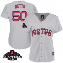 Boston Red Sox Mookie Betts Official Gray Authentic Women s Majestic Cool  Base Road 2018 World Series 9061d646d9c