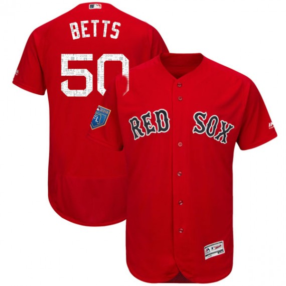 promo code e3f14 ed6bd Boston Red Sox Mookie Betts Official Red Authentic Men's Majestic Flex Base  2018 Spring Training Player MLB Jersey S,M,L,XL,XXL,XXXL,XXXXL