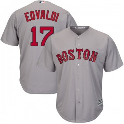 Boston Red Sox Nathan Eovaldi Official Gray Replica Men's Majestic Cool Base Road Player MLB Jersey