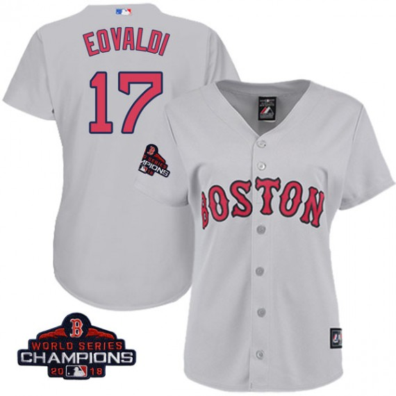 254ba0acb Boston Red Sox Nathan Eovaldi Official Gray Replica Women s Majestic Cool  Base Road 2018 World Series