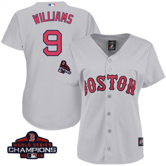 big sale fde5e 82802 Boston Red Sox Ted Williams Official Gray Replica Women's Majestic Cool  Base Road 2018 World Series Champions Player MLB Jersey ...