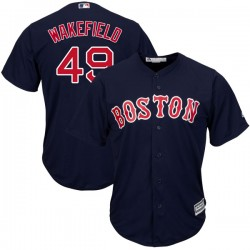 Boston Red Sox Tim Wakefield Official Navy Authentic Men's Majestic Cool Base Alternate Collection Player MLB Jersey